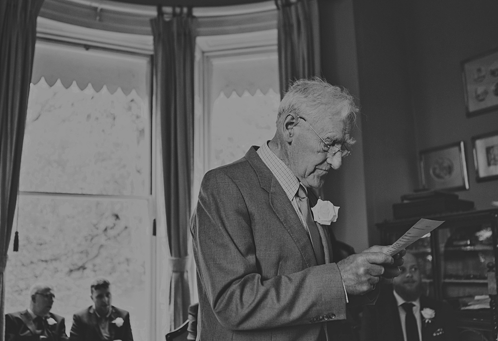 Wedding speeches at Meynell Langley wedding venue Derby