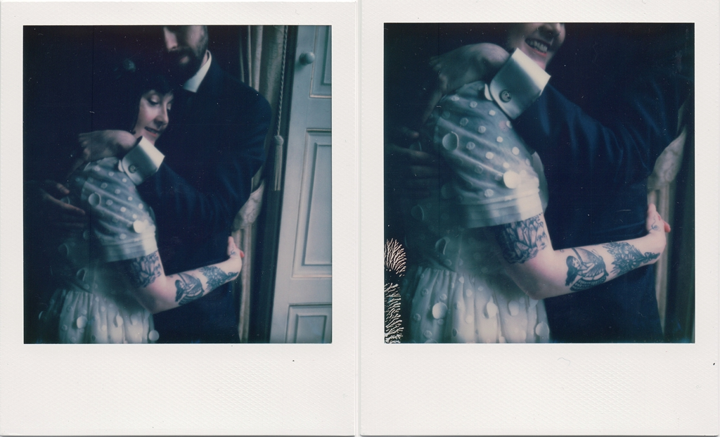 polaroid Portrait wedding photography Derby