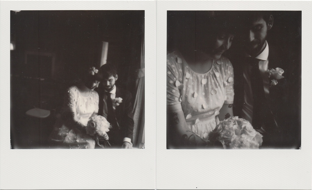 polaroid wedding photography