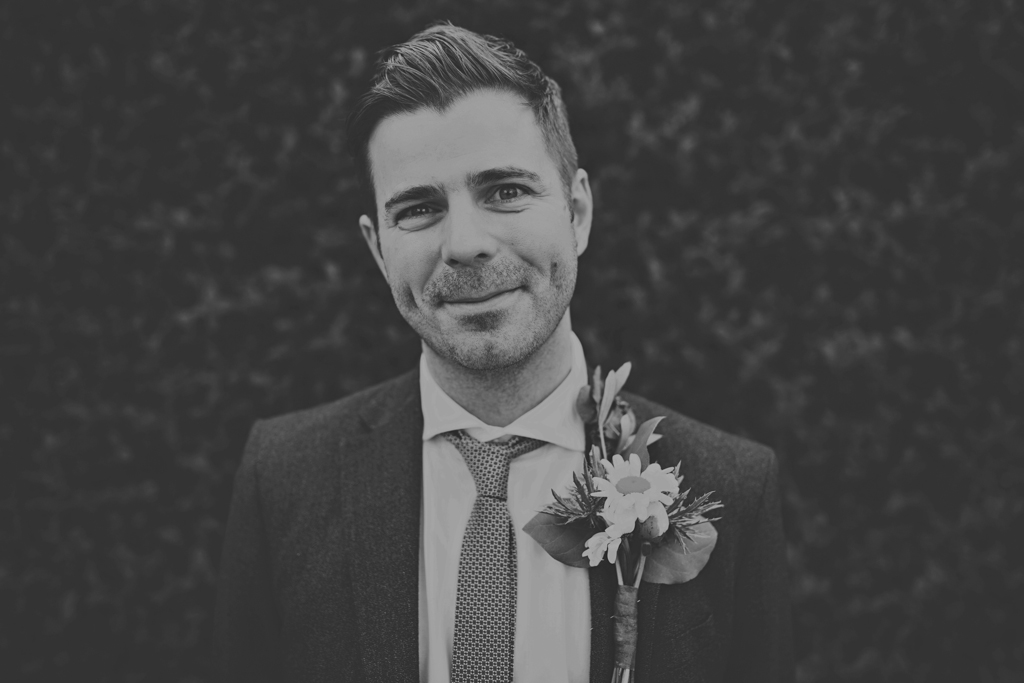 groom portrait at an East London wedding by Lisa Jane Photography