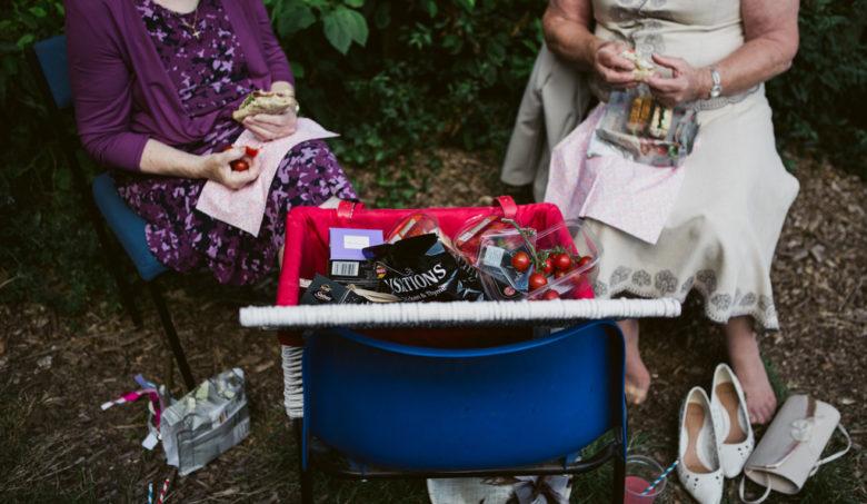 an english picnic wedding moment by Lisa Jane Photography