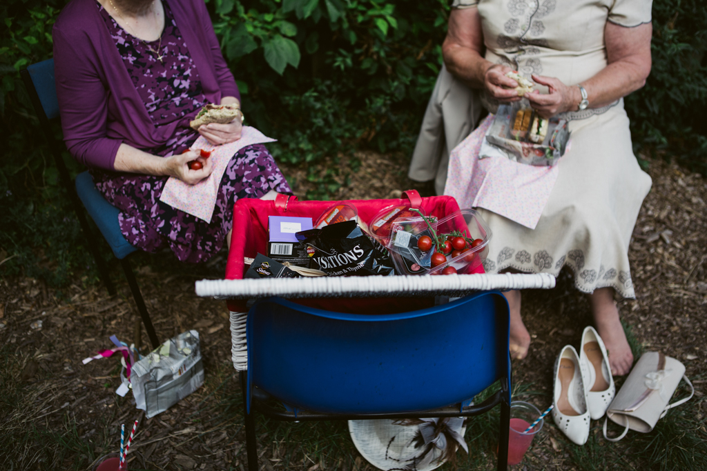 an english picnic wedding moment by Lisa Jane Photography