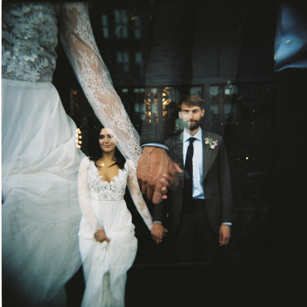 MC motor holga wedding portrait