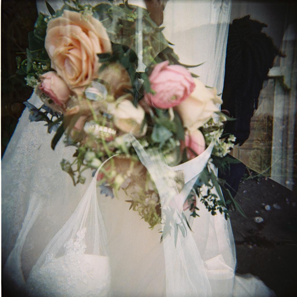 alternative double exposure holga wedding photography