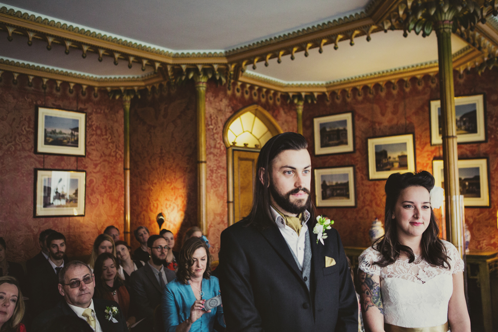 Alternative wedding ceremony Brighton Pavilion