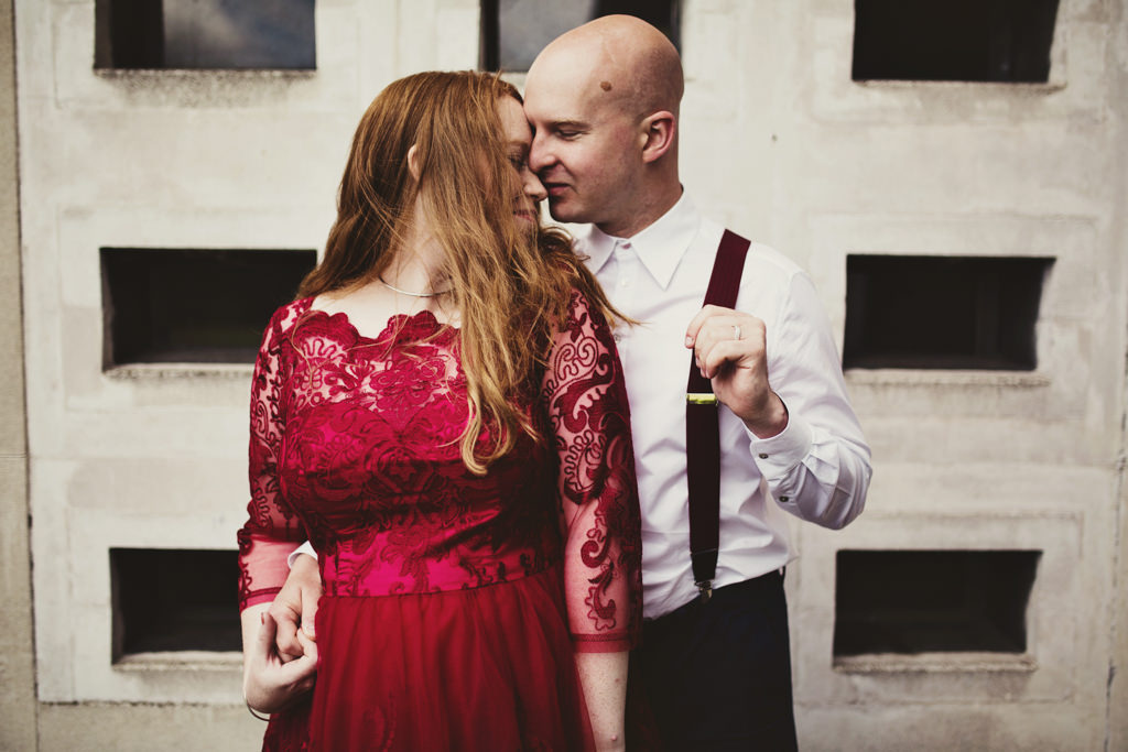 Quirky London wedding elopement