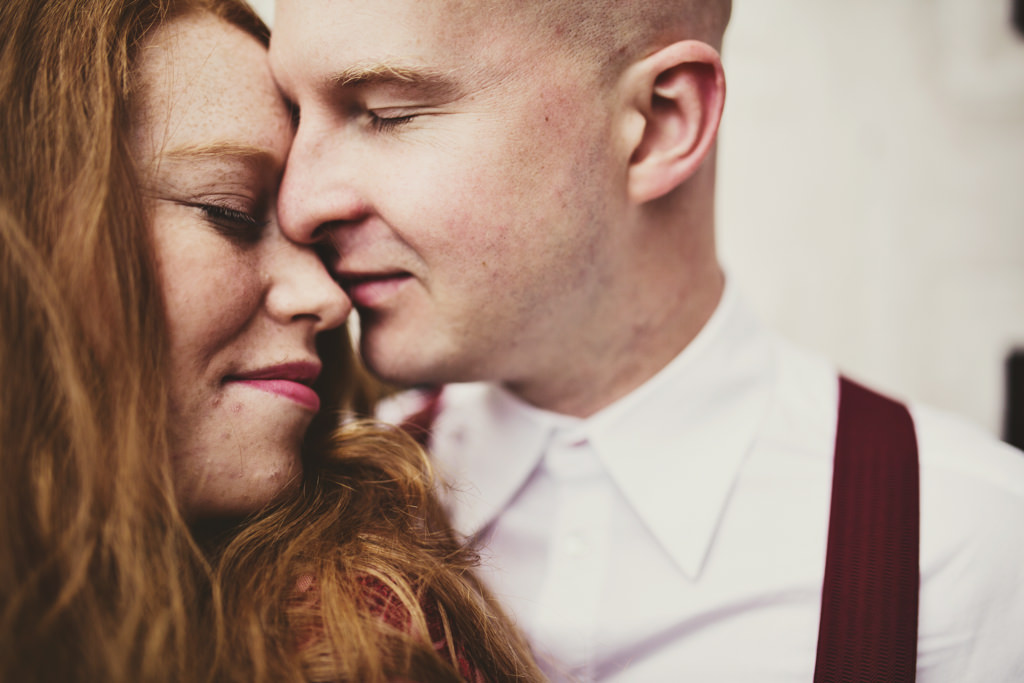 Intimate wedding portrait photography London
