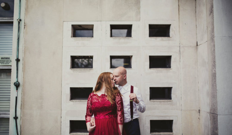 Alternative elopement wedding photography London