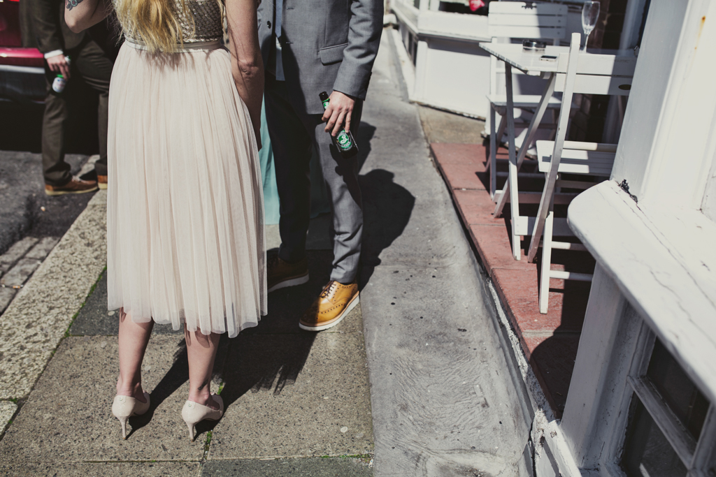 Laid back quirky wedding photography Brighton