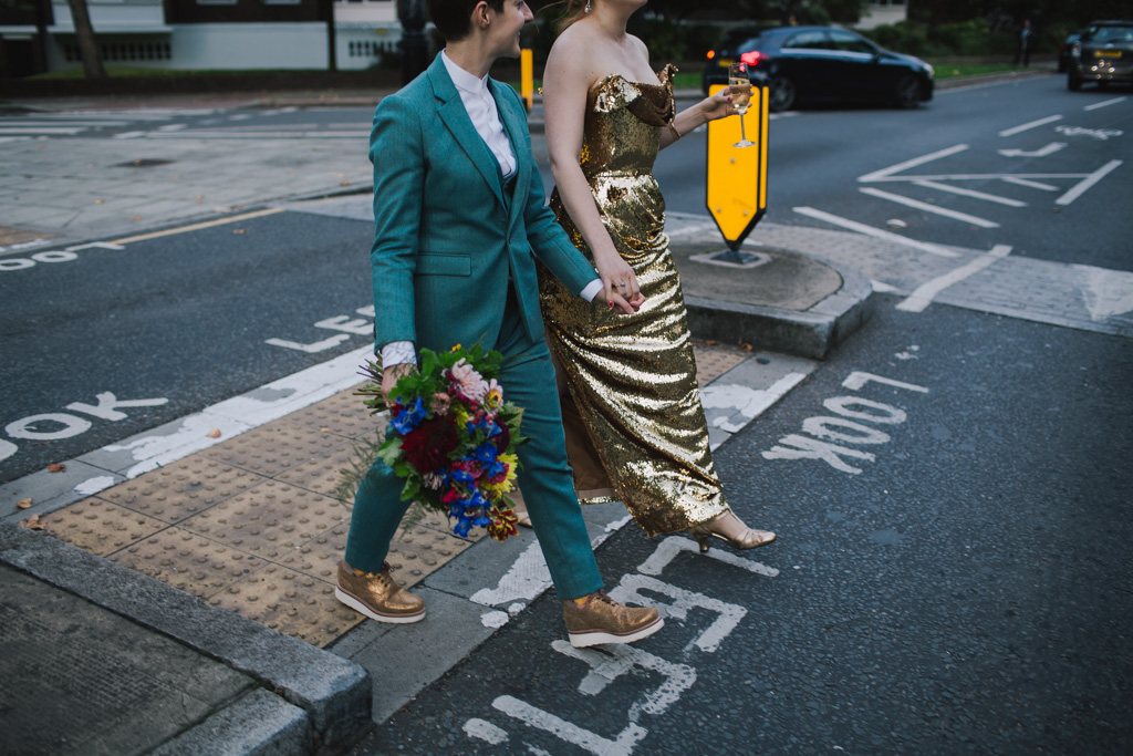 creative camden wedding photography at Cecil Sharp House