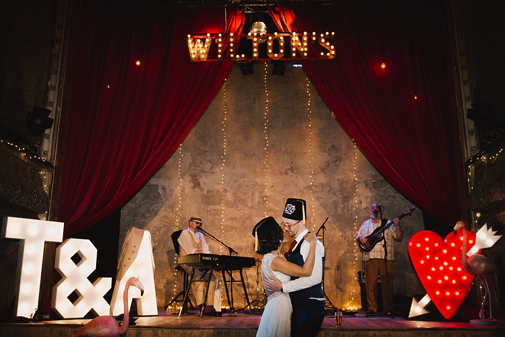 First dance | Wiltons Music Hall Wedding Photographer | Lisa Jane Photography
