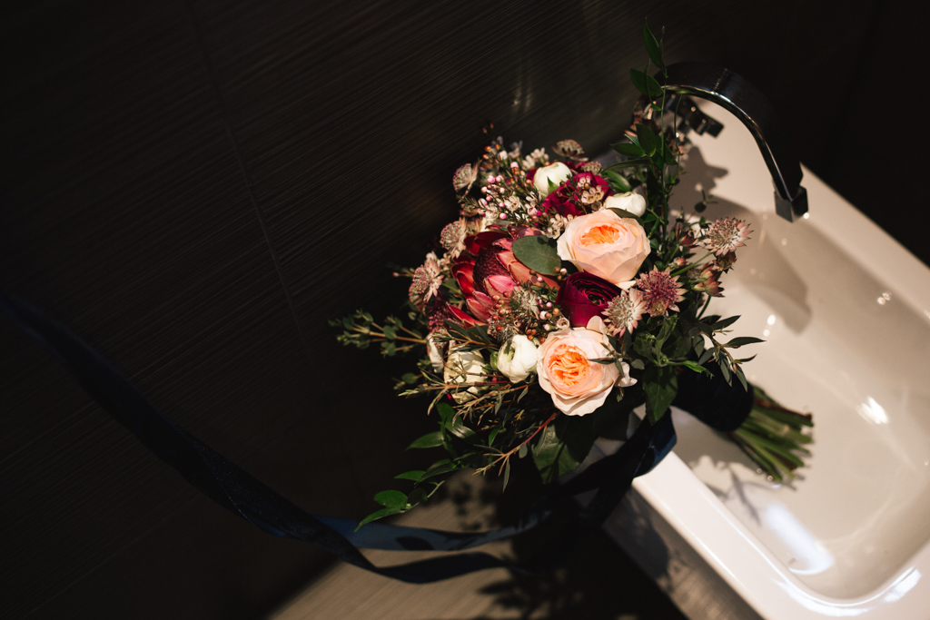 Bridal bouquet at a Stoke Newington Town Hall Wedding | Lisa Jane Photography | Creative London Wedding Photography