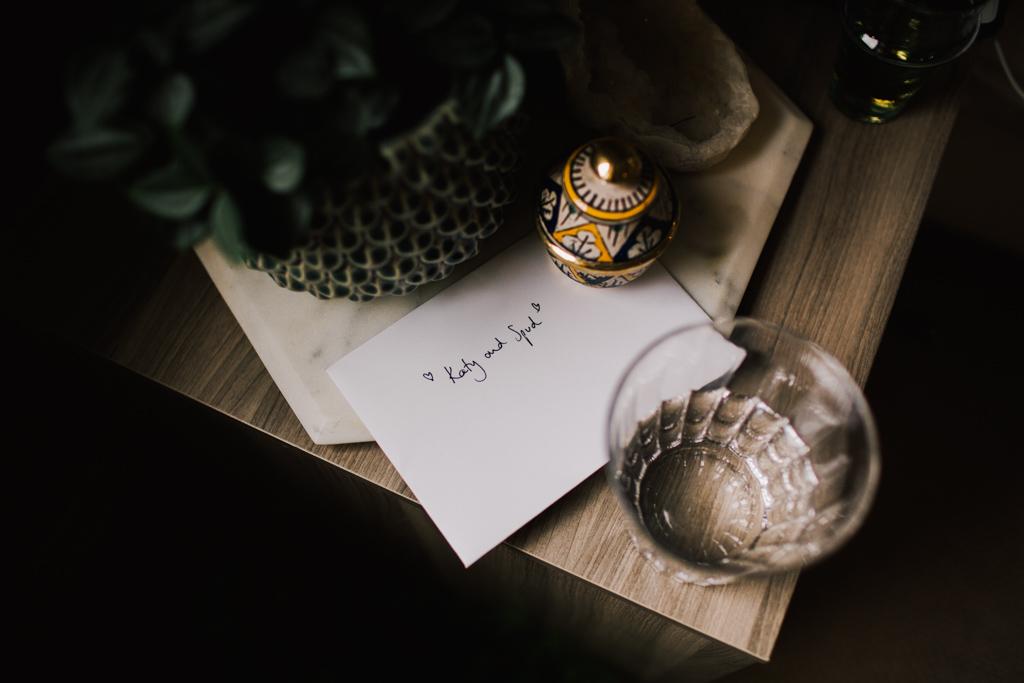 Wedding card at camden wedding | Lisa Jane Photography | Creative London Wedding Photography