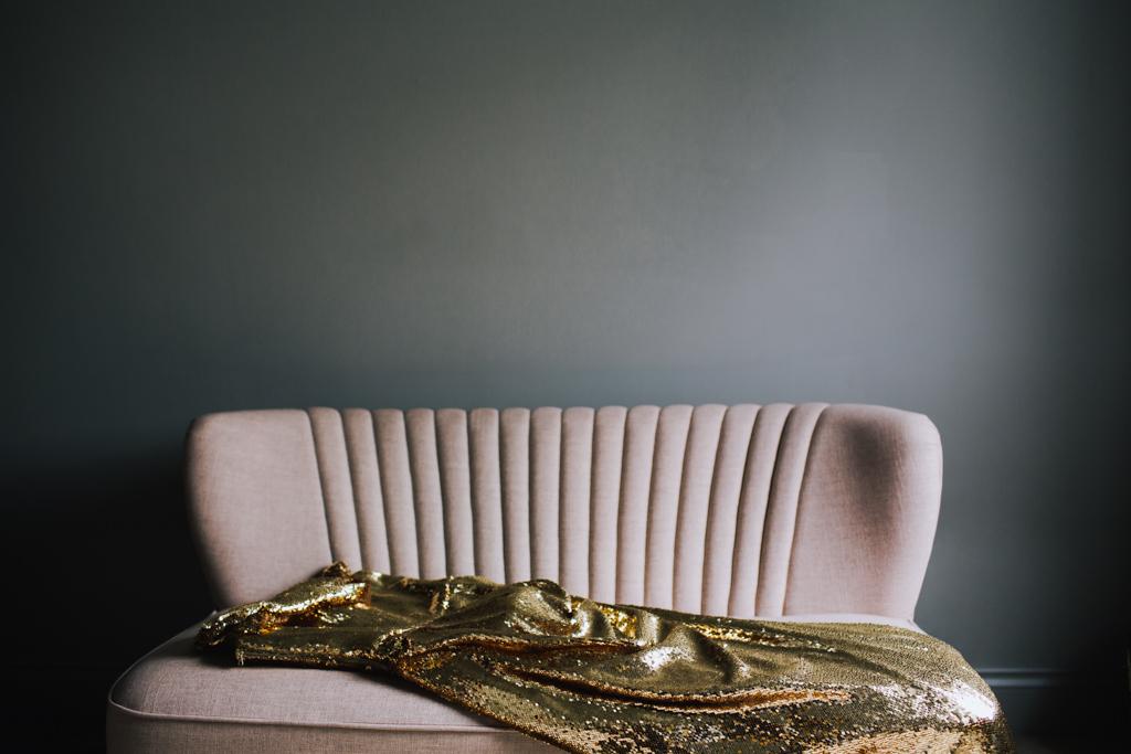 Bespoke Gold Wedding Dress | Lisa Jane Photography | Creative London Wedding Photography