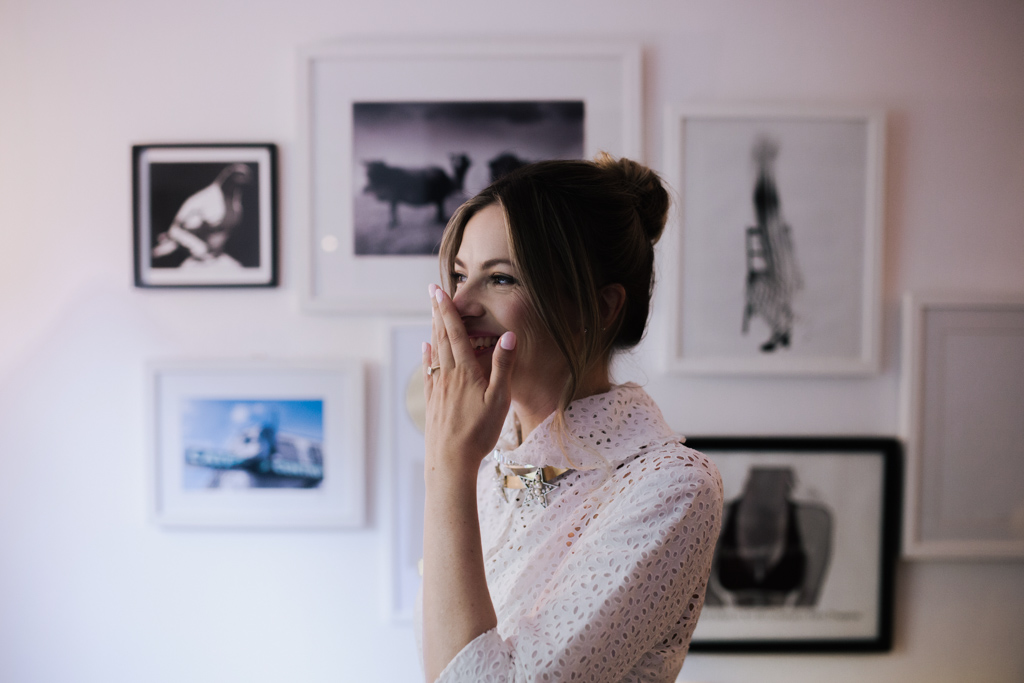 Bride laughing at her London elopement | Lisa Jane Photography | London Elopement Wedding Photography