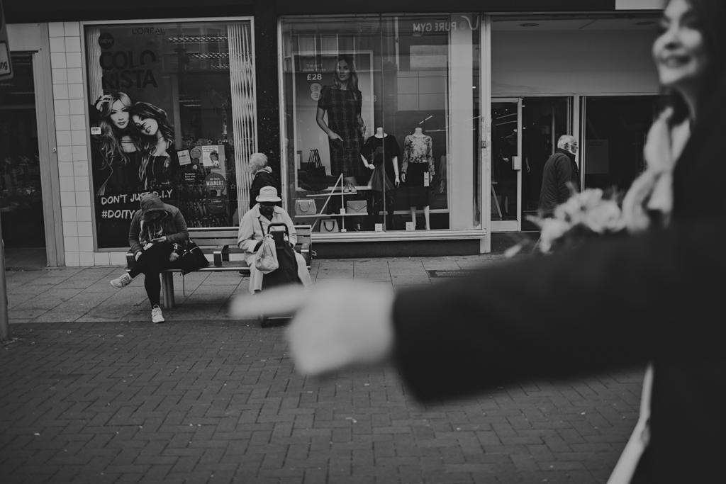 Couple walking to wedding ceremony | Lisa Jane Photography | Documentary London Wedding Photography