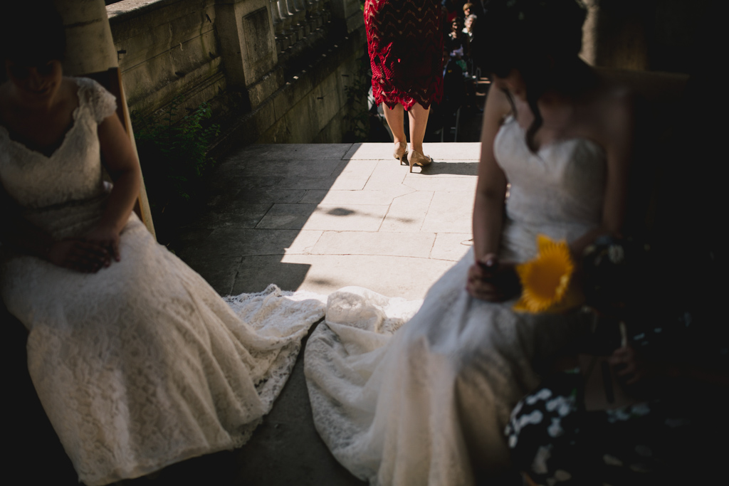 Reading during a ceremony at Hampstead Hill Pergola Wedding | Lisa Jane Photography | Modern London Wedding Photography