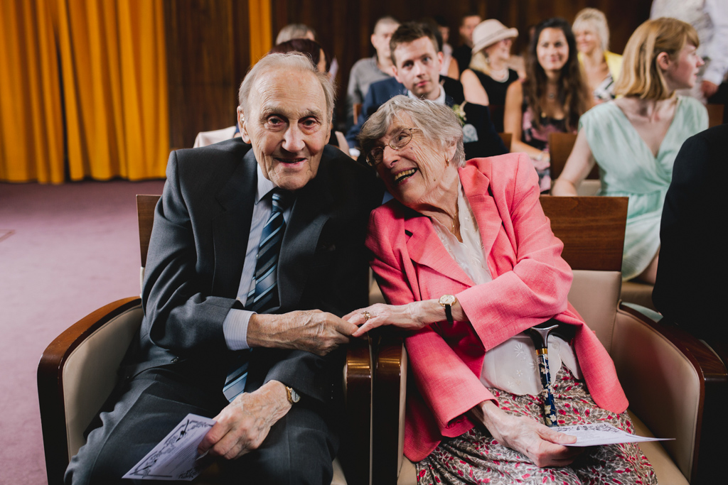 Grandparents during a Stoke Newington Town Hall Wedding | Lisa Jane Photography | Modern London Wedding Photography