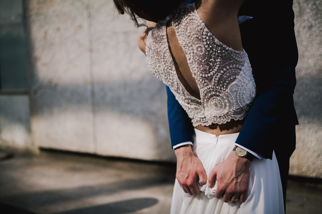 Shoreditch Studio wedding portraits | Creative London Wedding Photography