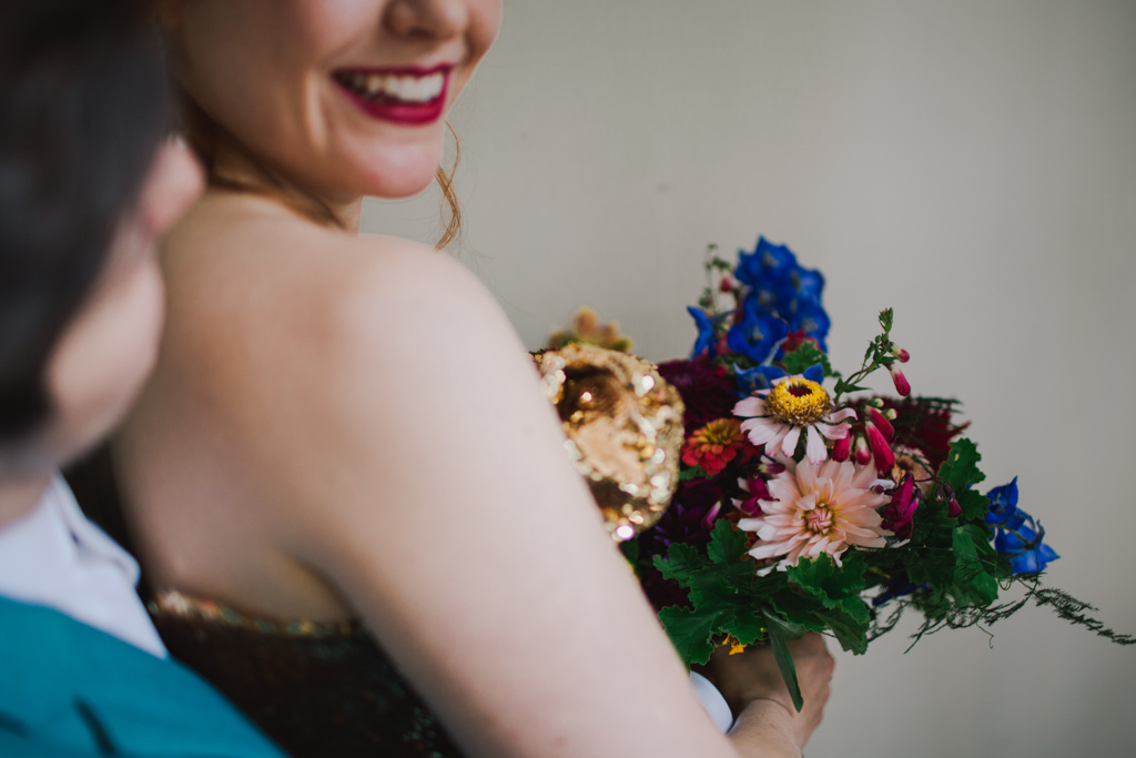 Rebel Rebel wedding bouquet at London Wedding