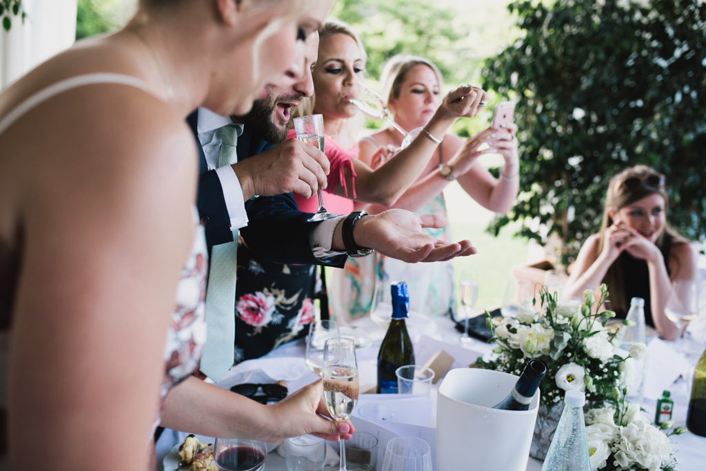 drinking games at Italian Wedding | Lisa Jane Photography | Modern Destination Wedding Photography