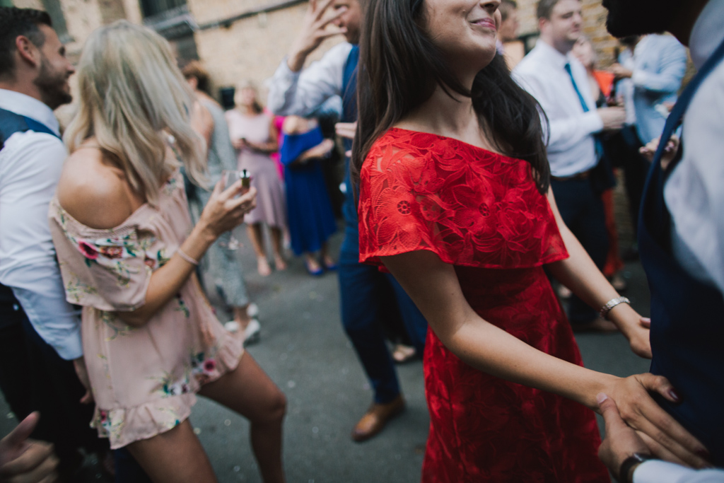 Dancing at Shoreditch Studio Wedding | Lisa Jane Photography | Modern London Wedding Photography