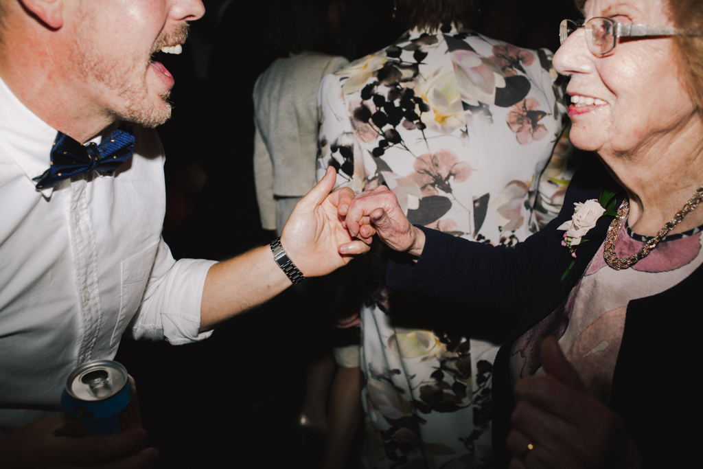 Gran dancing at Ace Hotel London Wedding | Lisa Jane Photography | Modern London Wedding Photography