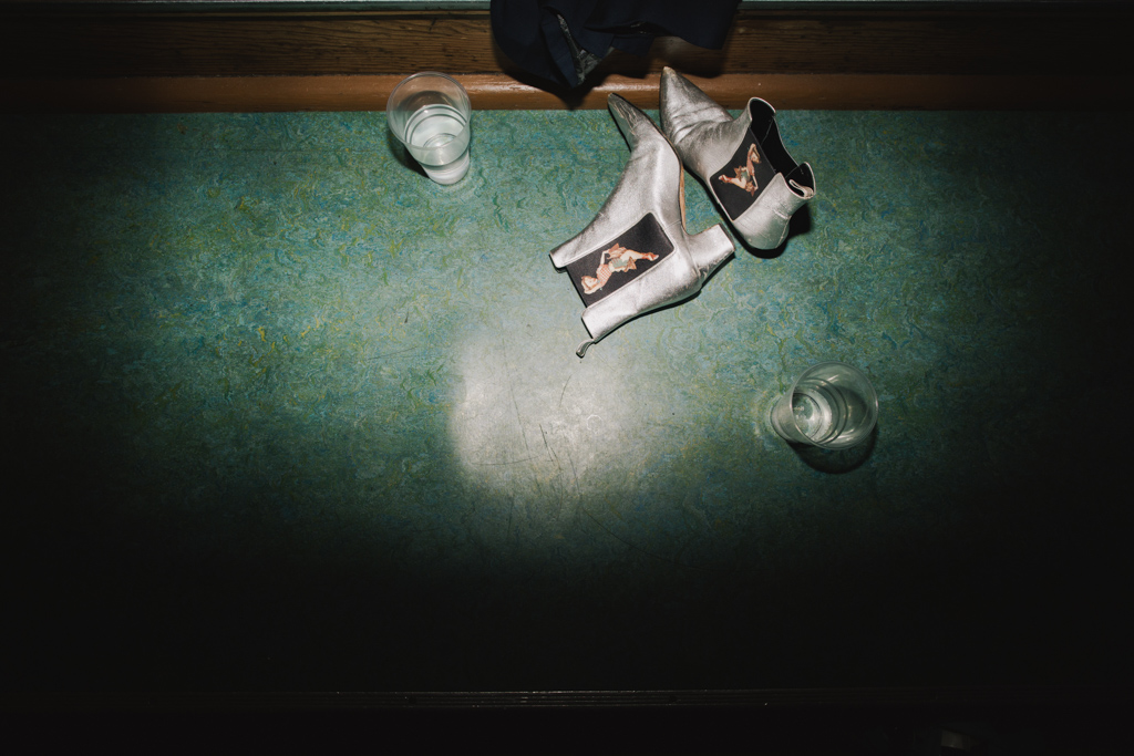 Shoes on dacnefloor at a Camden Wedding | Lisa Jane Photography | Creative Modern London Wedding Photography