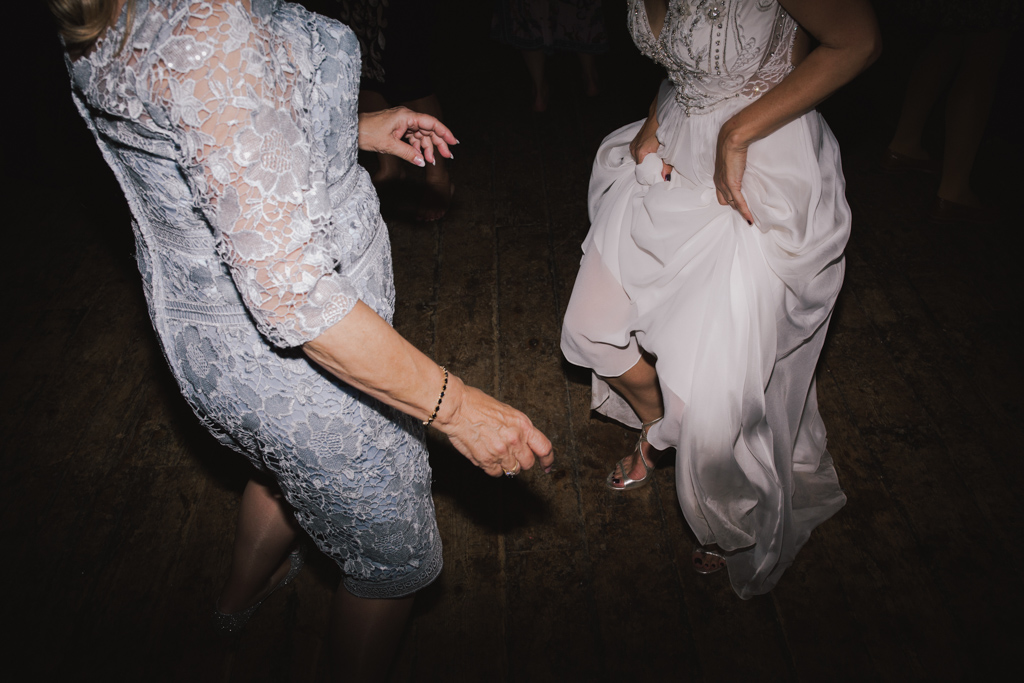 mum and brode dancing at Wiltons Music Hall Wedding | Lisa Jane Photography | Modern London Wedding Photography