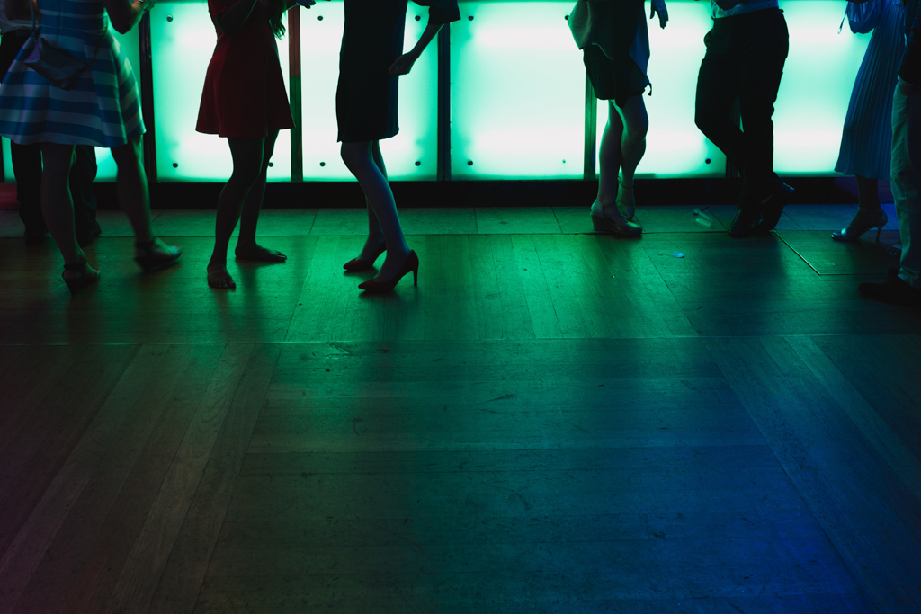 guests on dance floor at Barbican Conservatory Wedding | Lisa Jane Photography | Modern London Wedding Photography