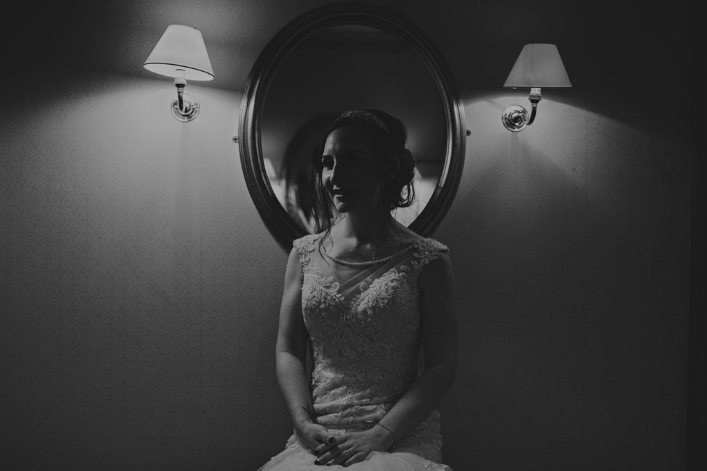 Bridal portrait at a London winter wedding