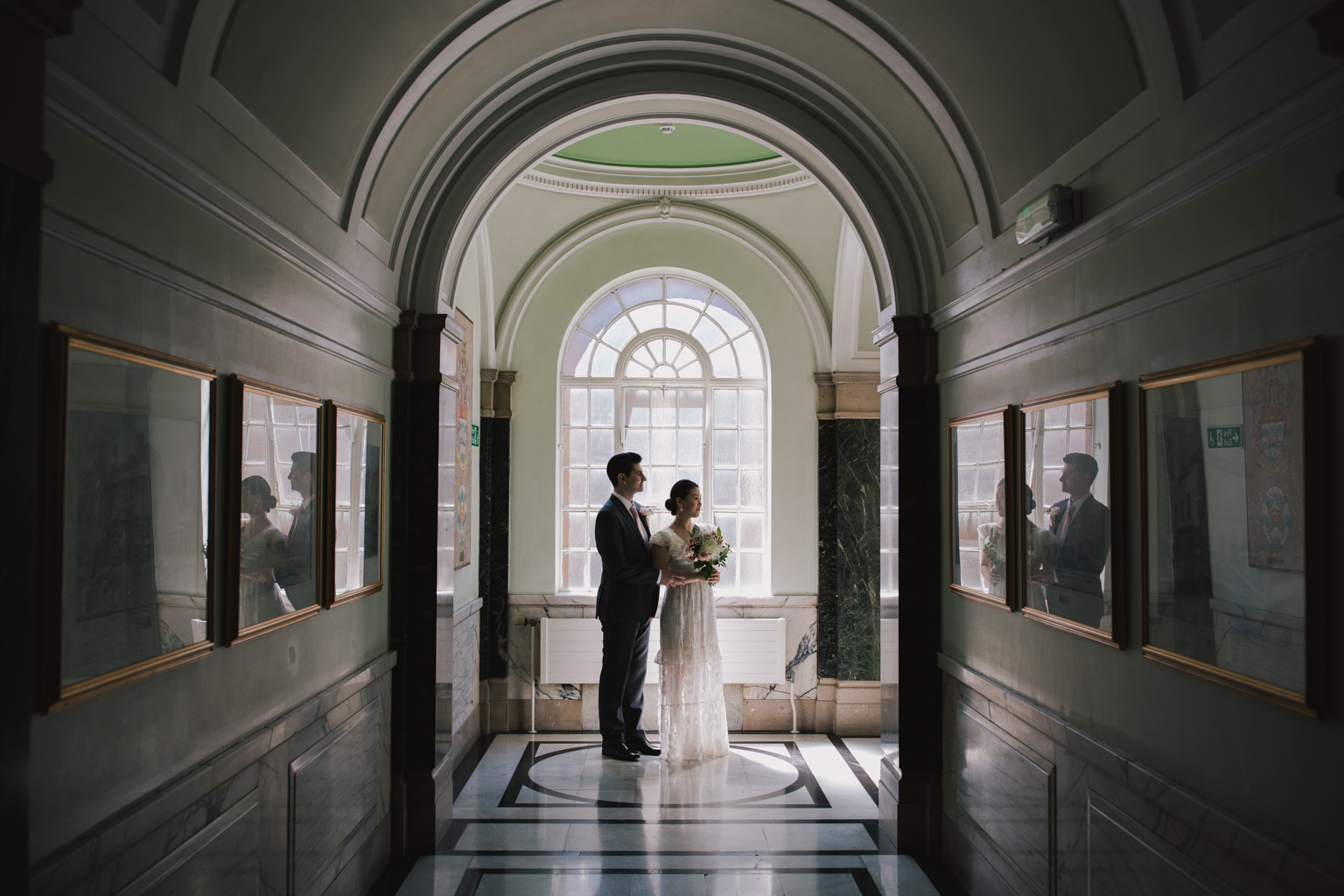 Bride and groom at Islington Town Hall Elopement ceremony