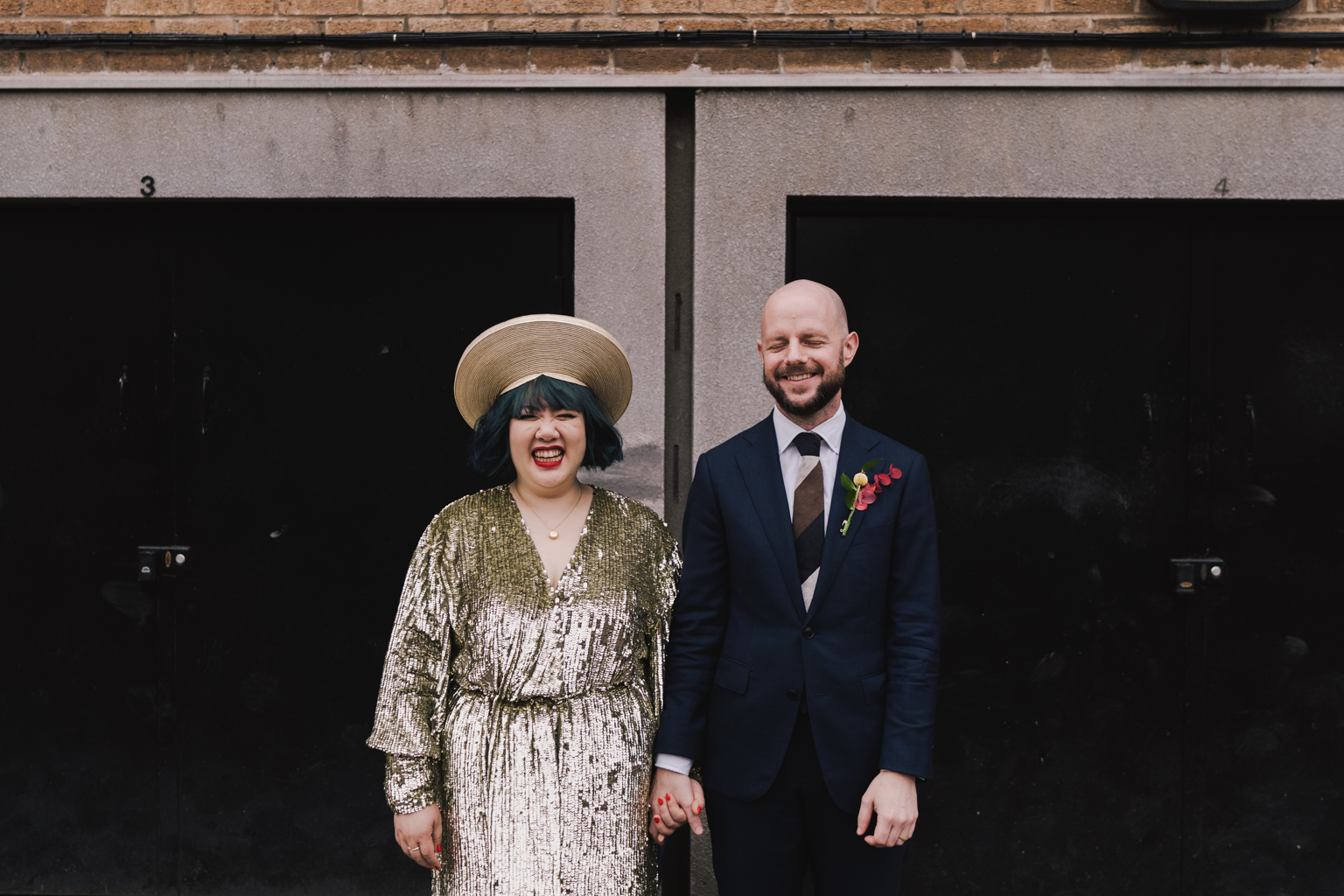 Bride and groom at South London wedding by Lisa Jane Photography