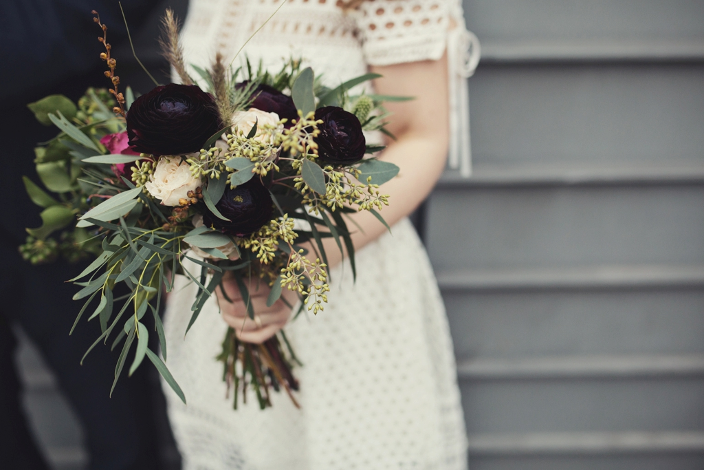 Grace and Thorn bridal bouquet East London wedding