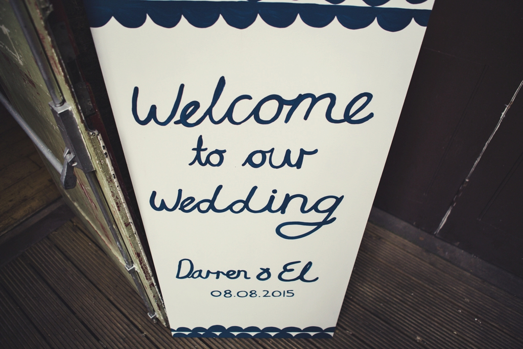 Welcome to our wedding sign London