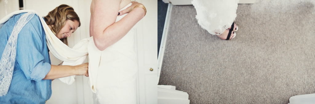 London Bridal preparations, with Chanel shoes