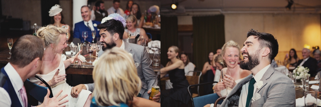Wedding day laughter at Tanner and Co London