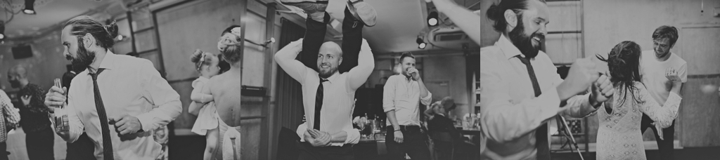 Polaroid wedding photography dance floor