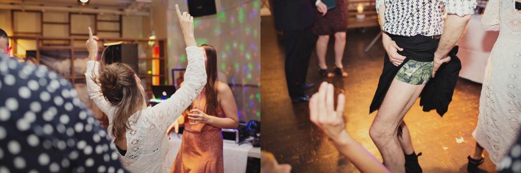 Polaroid Wedding Photography of fun London dance floor