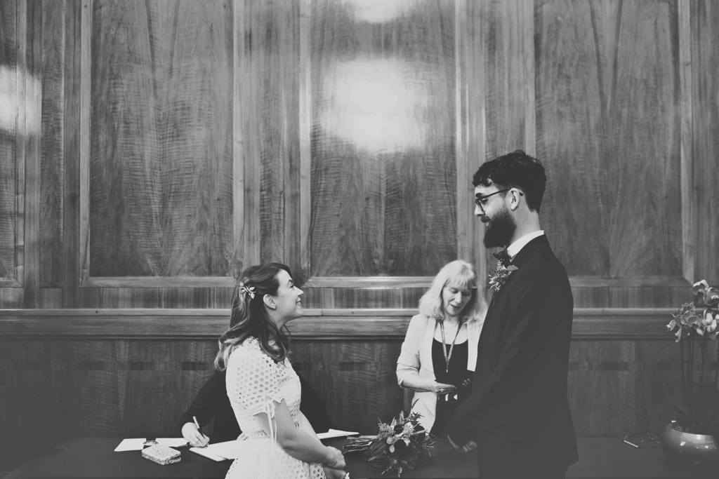 Hackney Town Hall wedding ceremony East London Lisa Jane Photography