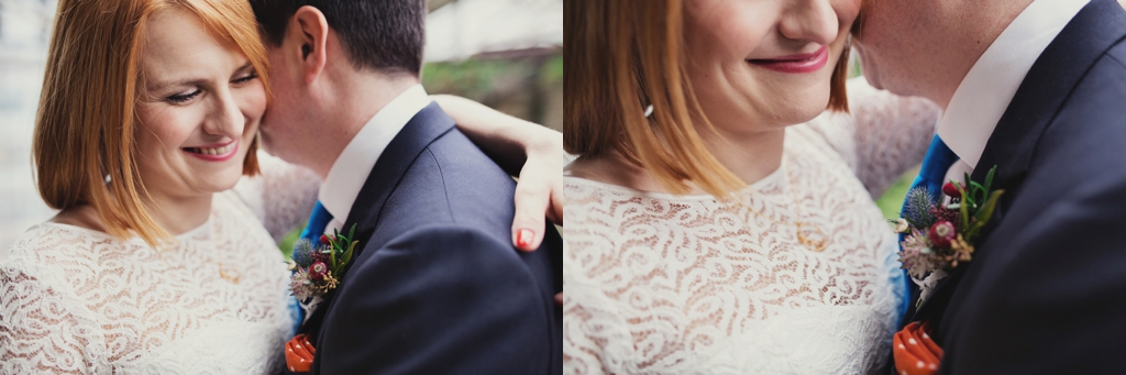 Close up wedding portrait London