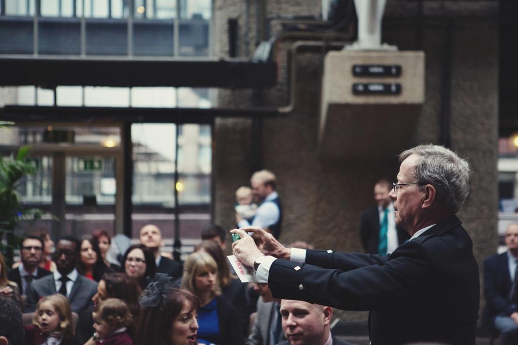 Creative wedding photography at The Barbican London