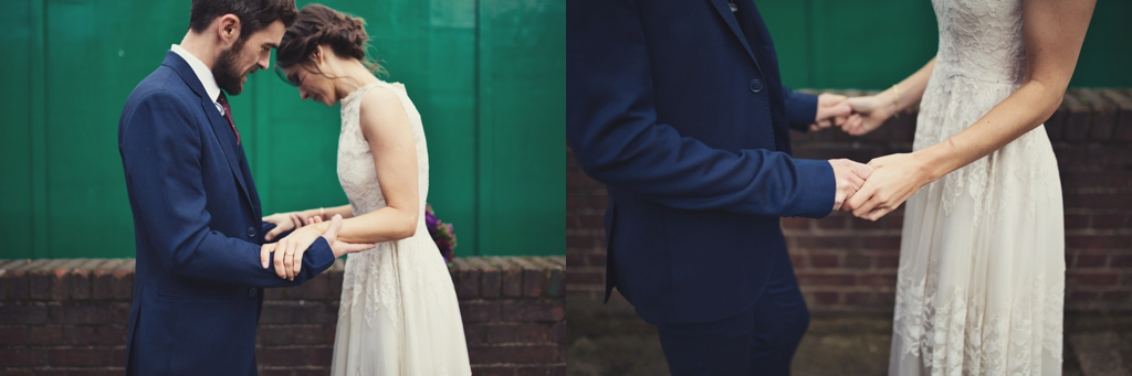 Creative London wedding portrait