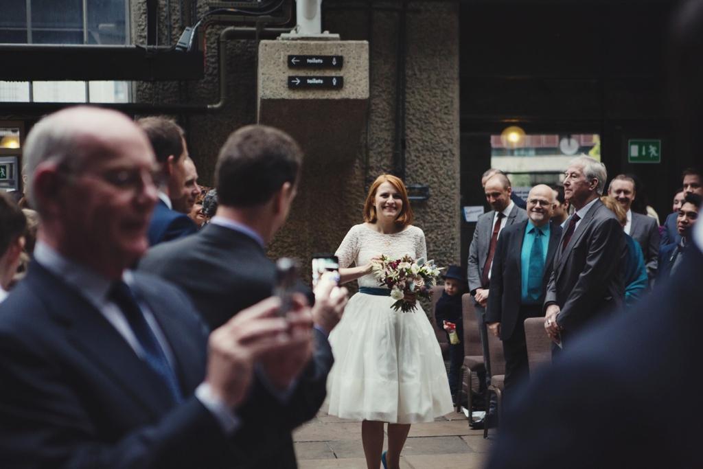 Fur Coat No Knickers bride at London wedding