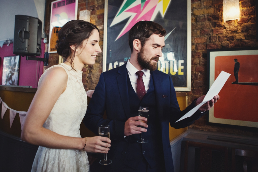 Wedding speeches at The Londesborough pub wedding London