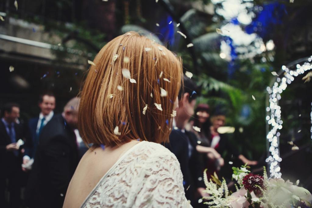 Confetti bridal portrait London