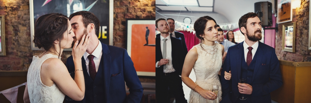Creative London pub wedding Lisa Jane Photography