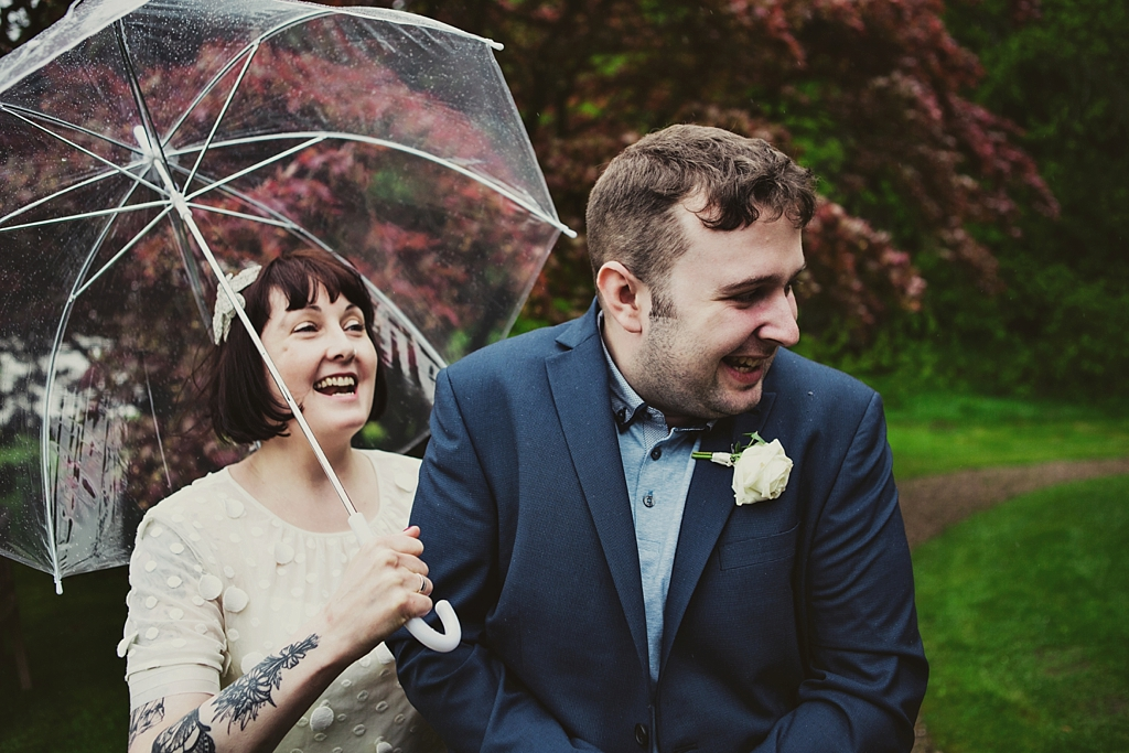 Fun giggles at creative wedding Derby
