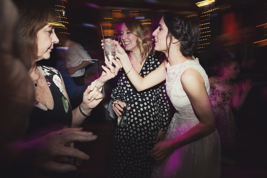 Vintage bride celebrates at laid back pub wedding London