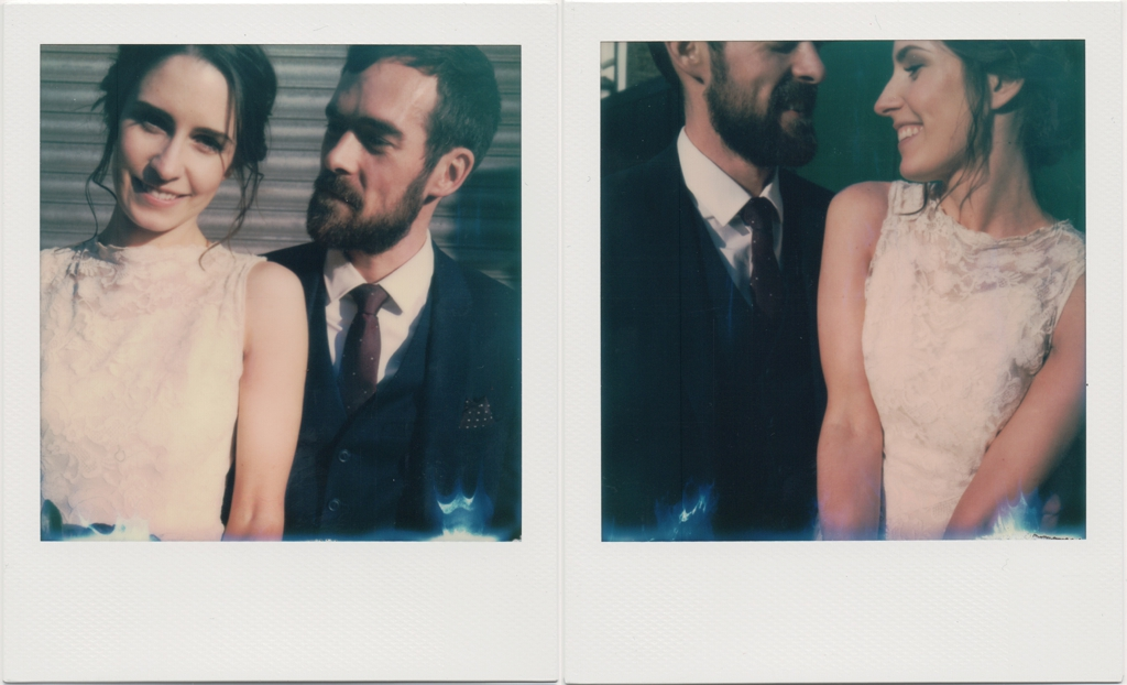 Polaroid wedding portraits London